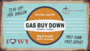 Element Church Outreach: Gas Buy Down