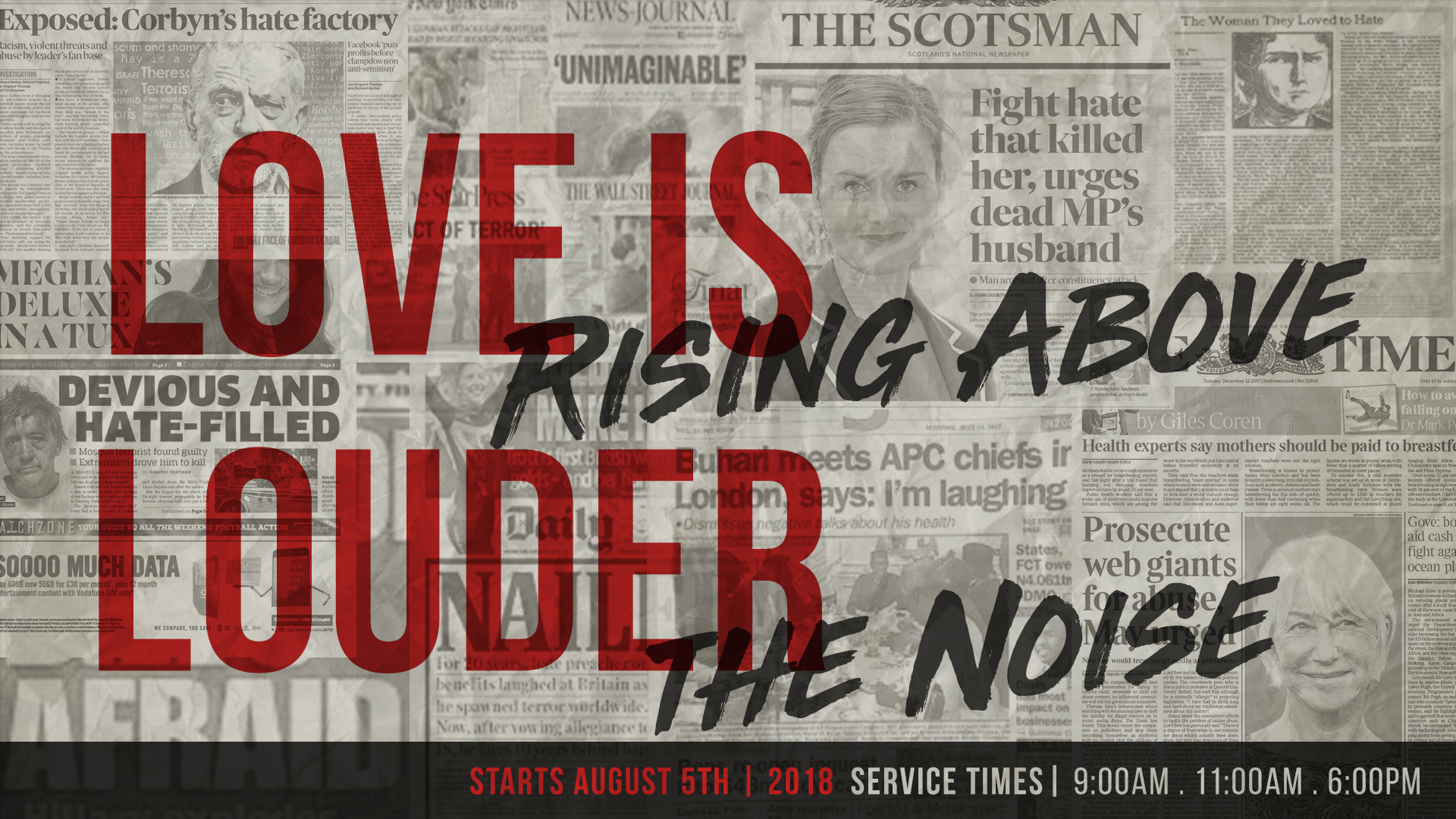 Love Is Louder: Rising Above The Noise (New Sermon Series
