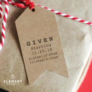 """""""Given"""" (Christmas Sermon Series)"""