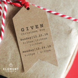 Christmas Services @ Element Church (Cheyenne, WY)